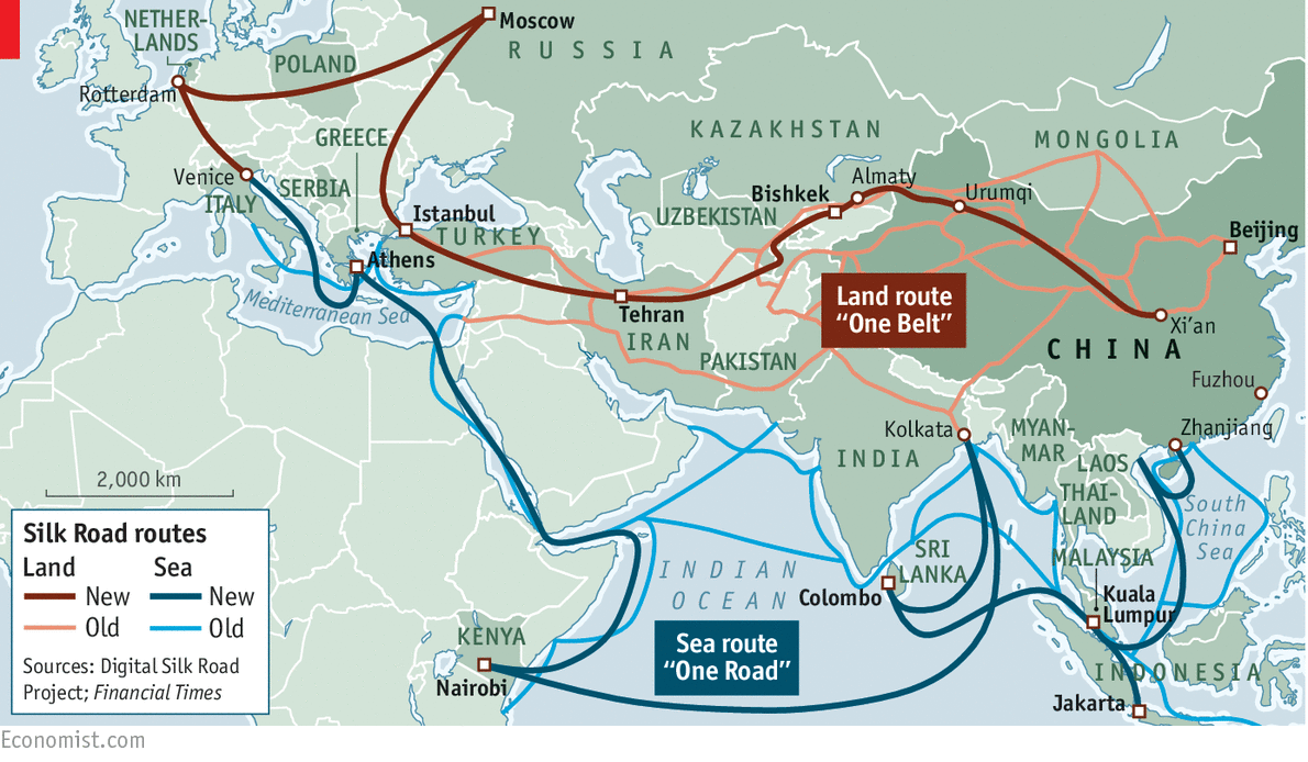 La nuova via della seta (Europa-Cina)